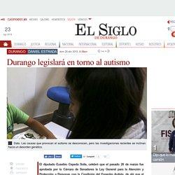 Durango legislará en torno al autismo
