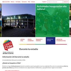 Durante tu estadía - Learn Chile
