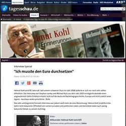 """Interview-Special: """"Ich musste den Euro durchsetzen"""""""