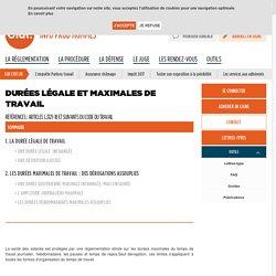 CFDT - Durées légale et maximales de travail