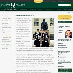 Durham Academy: Speech and Debate