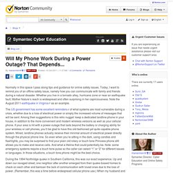 Will My Phone Work During a Power Outage? That Depends... | Norton Community