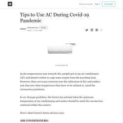 Tips to Use AC During Covid-19 Pandemic