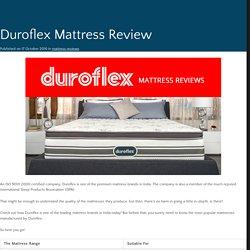 Duroflex Mattress Review India