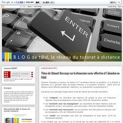 Blog de t@d: Thèse de Clément Dussarps sur la dimension socio-affective et l'abandon en FOAD
