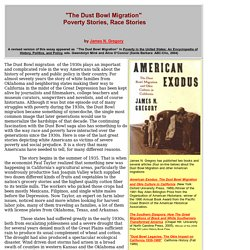 The Dust Bowl Migration: Poverty Stories, Race Stories