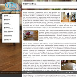 Floor Sanding – TDI Hardwood Floors – Medium
