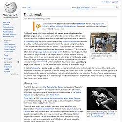 Dutch angle