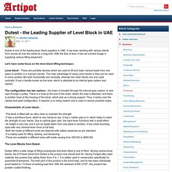 Dutest - the Leading Supplier of Level Block in UAE