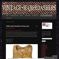Vintage-Haberdashers Blog