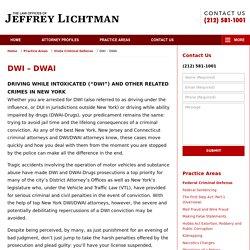 New York DWI Lawyers Jeffrey Lichtman