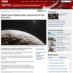 Dwarf planet Makemake examined for the first time