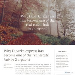 Why Dwarka express has become one of the real estate hub in Gurgaon? – Site Title