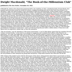 "Dwight Macdonald, ""The Book-of-the-Millennium Club"""