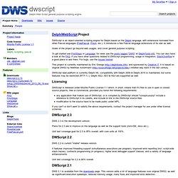 dwscript - Delphi Web Script general purpose scripting engine