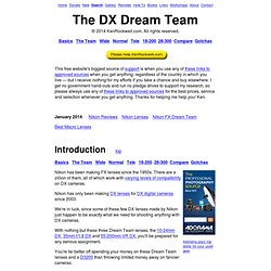 DX Dream Team Lenses