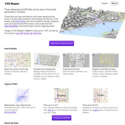 CAD Mapper - .DXF files of any area in the world