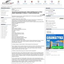 Sprawdzone propozycje gier i zabaw dydaktycznych na lekcji języka angielskiego w klasach 1-3 szkoły podstawowej, Język angielski, Gry