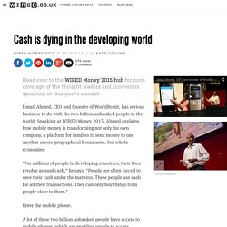 Cash is dying in the developing world