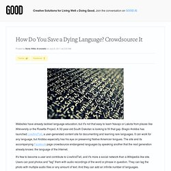 How Do You Save a Dying Language? Crowdsource It - Education