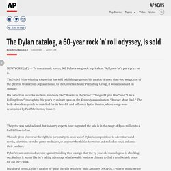 The Dylan catalog, a 60-year rock 'n' roll odyssey, is sold