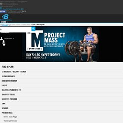 Dymatize Project Mass Trainer: Cycle 1, Microcycle 1, Day 5