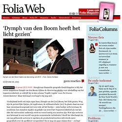 """Foliaweb: 'Dymph van den Boom heeft het licht gezien"""""""