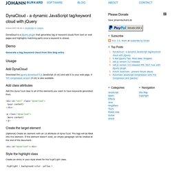DynaCloud–a dynamic JavaScript tag/keyword cloud with jQuery