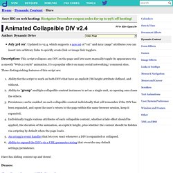 Animated Collapsible DIV v2.01