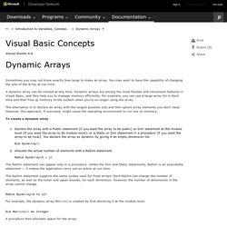 Dynamic Arrays