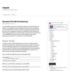 Dynamic D3 with Knockout.js