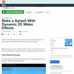 Make a Splash With Dynamic 2D Water Effects