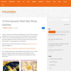 15 Free Dynamic Flash XML Photo Galleries