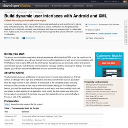 Build dynamic user interfaces with Android and XML