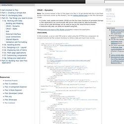 CRUD - Dynamic - Flex 3 Getting Started - Adobe Learning Resourc