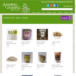 Dynamic Organic - Dried Fruit / Nuts / Seeds
