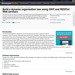 Build a dynamic organization tree using GWT and RESTful Web services