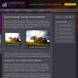 High Dynamic Range (HDR) Photography in Photoshop