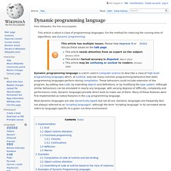 Dynamic programming language