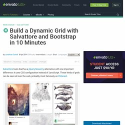 Build a Dynamic Grid with Salvattore and Bootstrap in 10 Minutes