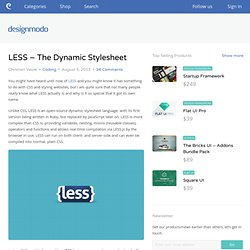 LESS - The Dynamic Stylesheet