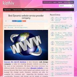 Best Dynamic website service provider company