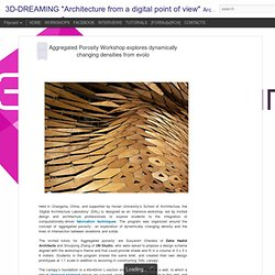 "Aggregated Porosity Workshop explores dynamically changing densities from evolo | 3D-DREAMING ""Architecture from a digital point of view"""