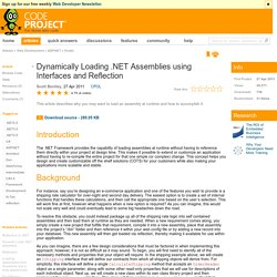 Dynamically Loading .NET Assemblies using Interfaces and Reflection