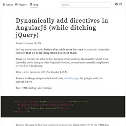 Dynamically add directives in AngularJS (while ditching jQuery)