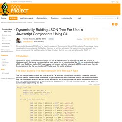 Dynamically Building JSON Tree For Use In Javascript Components Using C#