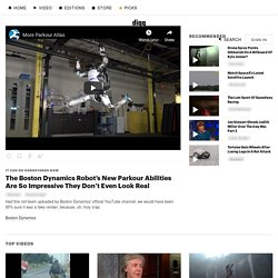 The Boston Dynamics Robot's New Parkour Abilities Are So Impressive They Don't Even Look Real