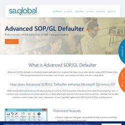 Dynamics GP Module - Advanced SOP/GL Defaulter