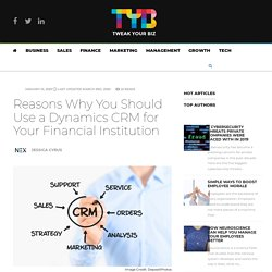 Should a Dynamics CRM be used for a financial institution?