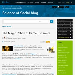 The Magic Potion of Game Dynamics